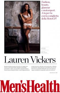 Top model Lauren Vickers with Aussie Elite Group