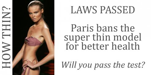 France too thin fashion model laws