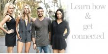 Guy Sebastian with models