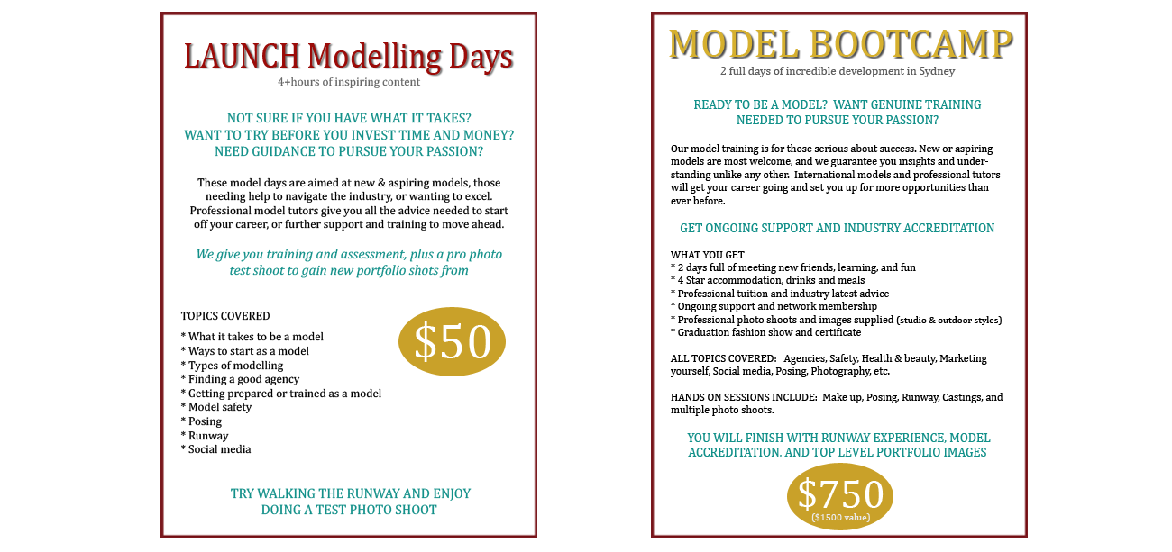 Launch modelling days