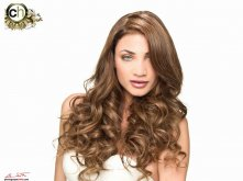 Christopher Hanna Platinun hair campaign Model Joanne Nicolas