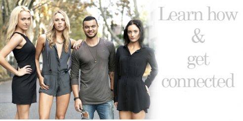 Guy Sebastian with models