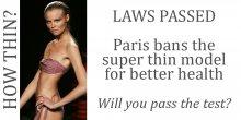 France too thin fashion model laws